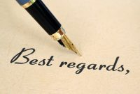 Сопроводительное письмо Закрытие и подпись
