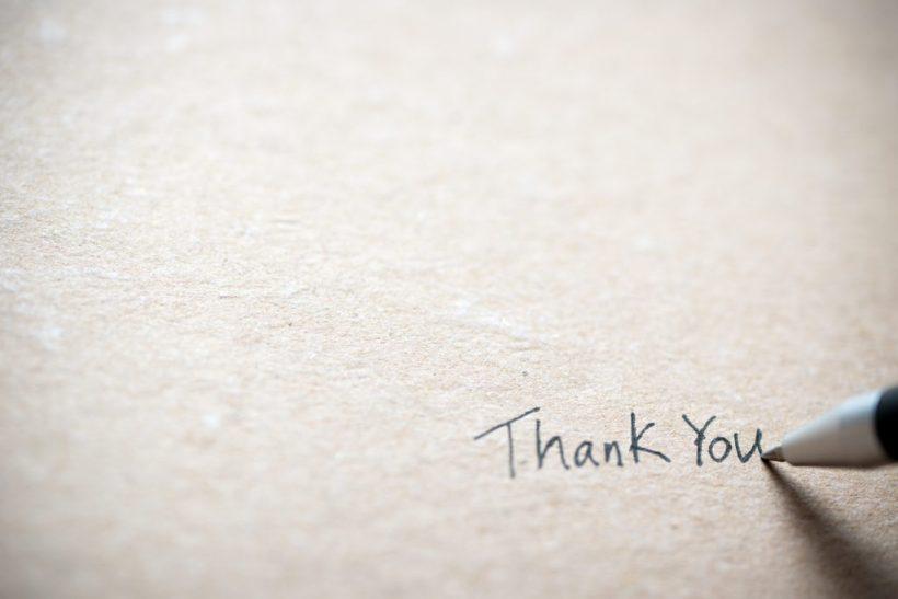 Как да пишем благодарствено писмо след беседа