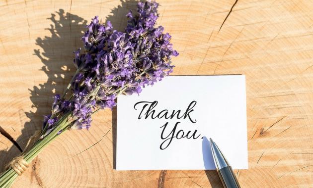 Skrivning et takkebrev til et job Henvisning